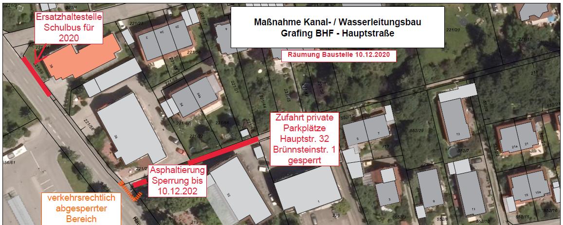 """Baustelleninfo """"Grafing Bahnhof"""""""
