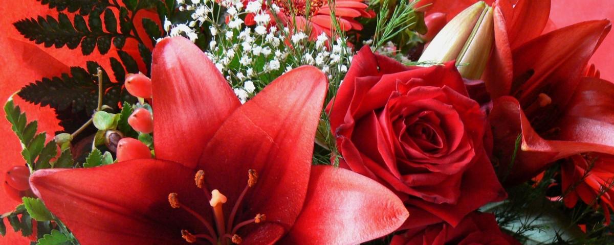 Blumenverkauf am Valentinstag
