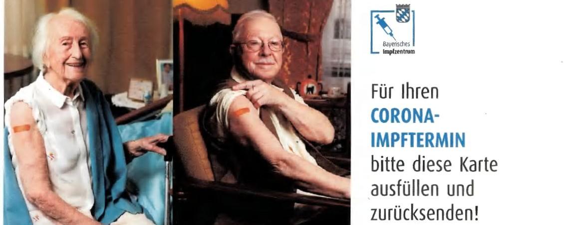 Postkarten für Impftermine
